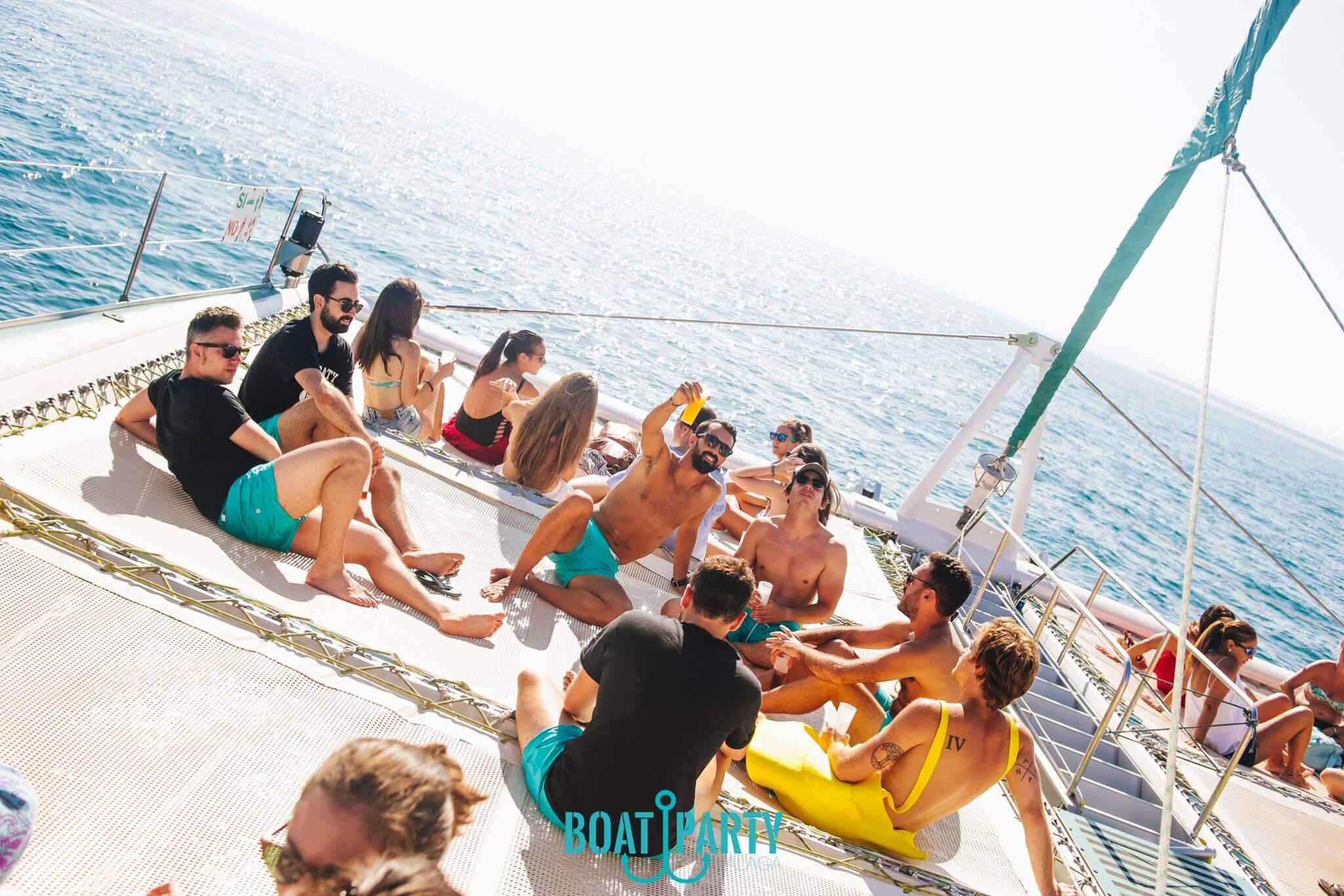 Fiestas barco Málaga